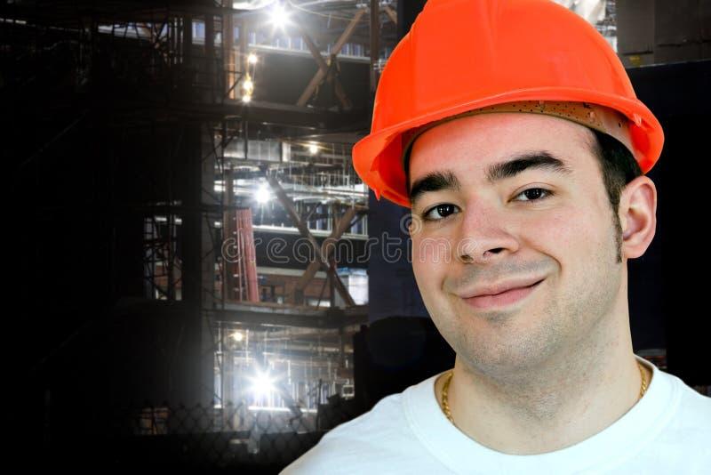 νυχτερινός εργάτης κατασκευής στοκ εικόνα με δικαίωμα ελεύθερης χρήσης