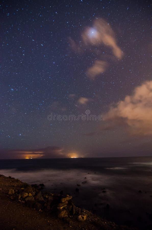 νυχτερινός ουρανός έναστρος στοκ εικόνα