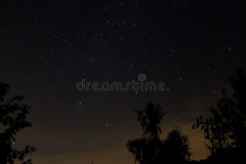 Νυχτερινός ουρανός στην Τσεχία στοκ εικόνες