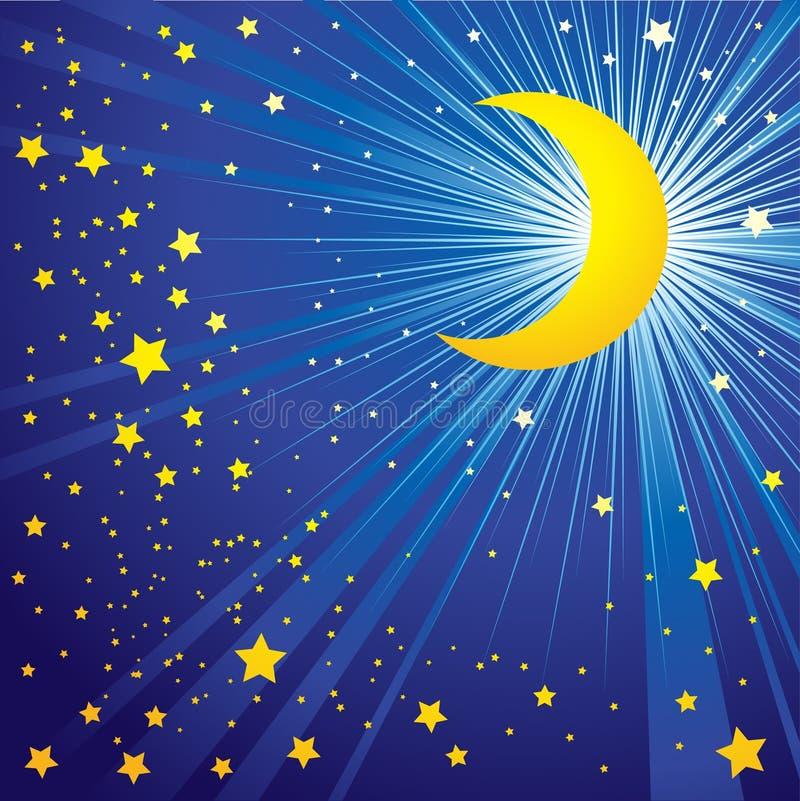 νυχτερινός ουρανός φεγγ& ελεύθερη απεικόνιση δικαιώματος