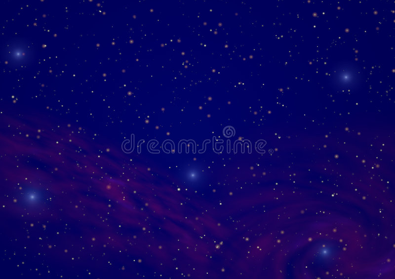 νυχτερινός ουρανός 2 απεικόνιση αποθεμάτων