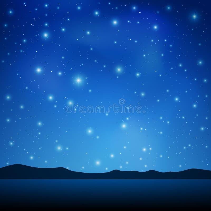 νυχτερινός ουρανός ελεύθερη απεικόνιση δικαιώματος