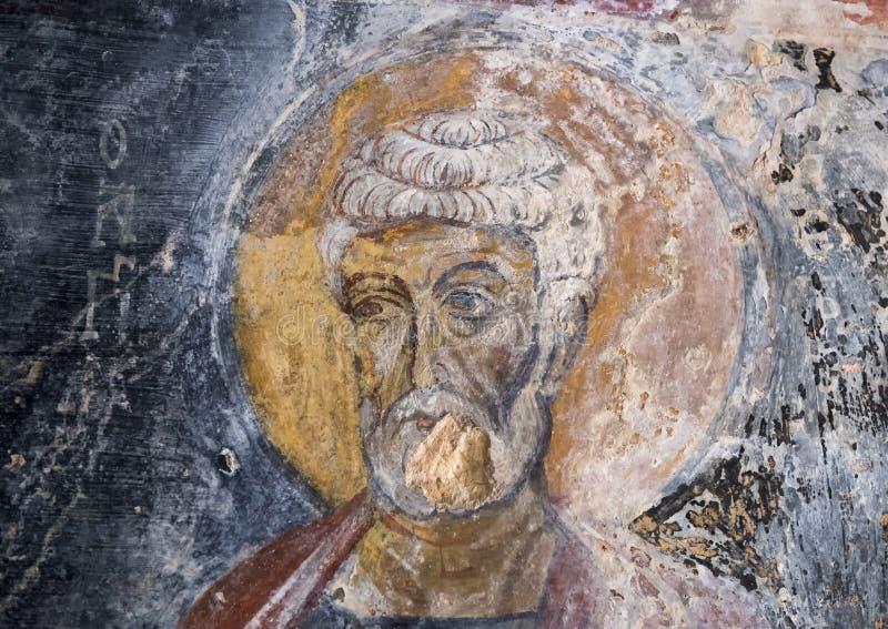 Νωπογραφία Άγιος Peter ο απόστολος, Λα Chiesa Di SAN Lorenzo, λάμα Δ ` Antico Parco Rupestre στοκ εικόνα με δικαίωμα ελεύθερης χρήσης