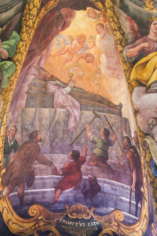 Νωπογραφία Άγιου Βασίλη του Μπάρι στοκ φωτογραφία με δικαίωμα ελεύθερης χρήσης