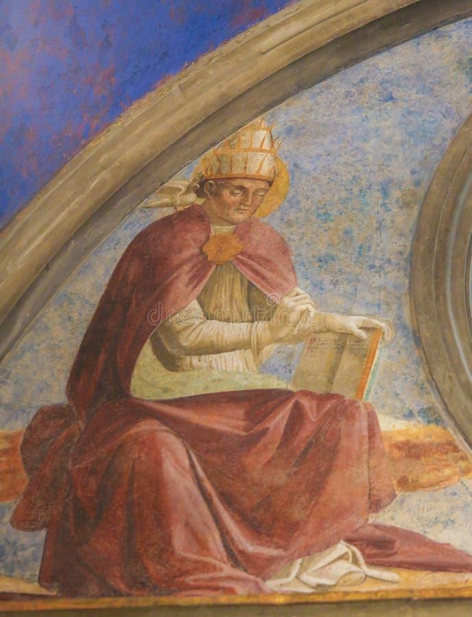 Νωπογραφία Αγίου Gregory ο μεγάλος στο SAN Gimignano στοκ φωτογραφίες με δικαίωμα ελεύθερης χρήσης