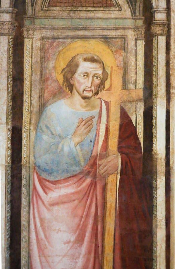 Νωπογραφία Αγίου Peter, Santa Croce, Φλωρεντία στοκ φωτογραφίες με δικαίωμα ελεύθερης χρήσης