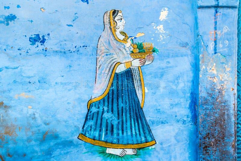 Νωπογραφία μιας νέας γυναίκας στοκ φωτογραφίες