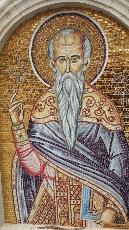 Νωπογραφία του ιερού ατόμου στη Κύπρο στοκ φωτογραφίες με δικαίωμα ελεύθερης χρήσης