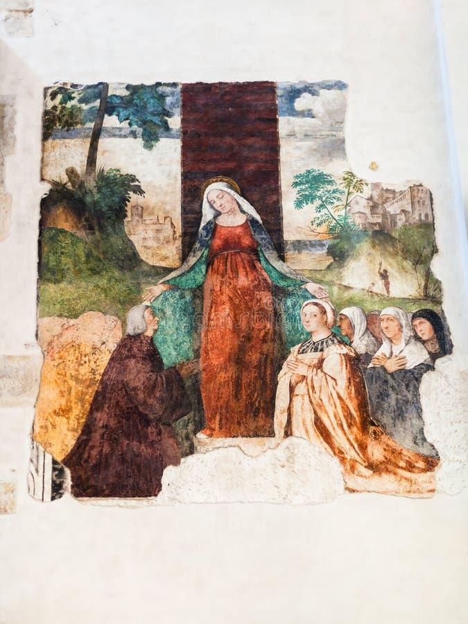 Νωπογραφία Chiesa Di Santa Corona στο Βιτσέντσα στοκ εικόνες