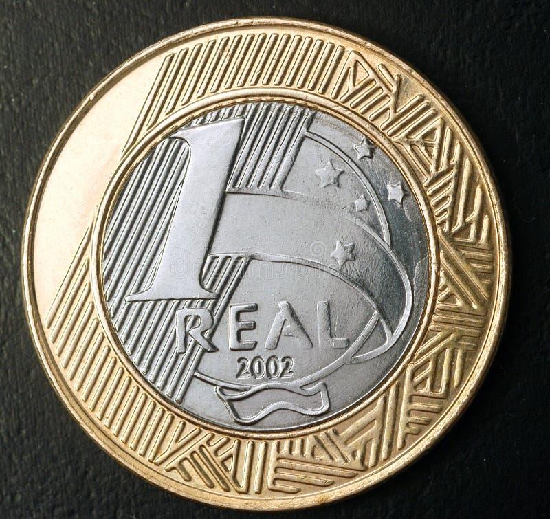 νόμισμα ένα πραγματικό στοκ εικόνα με δικαίωμα ελεύθερης χρήσης
