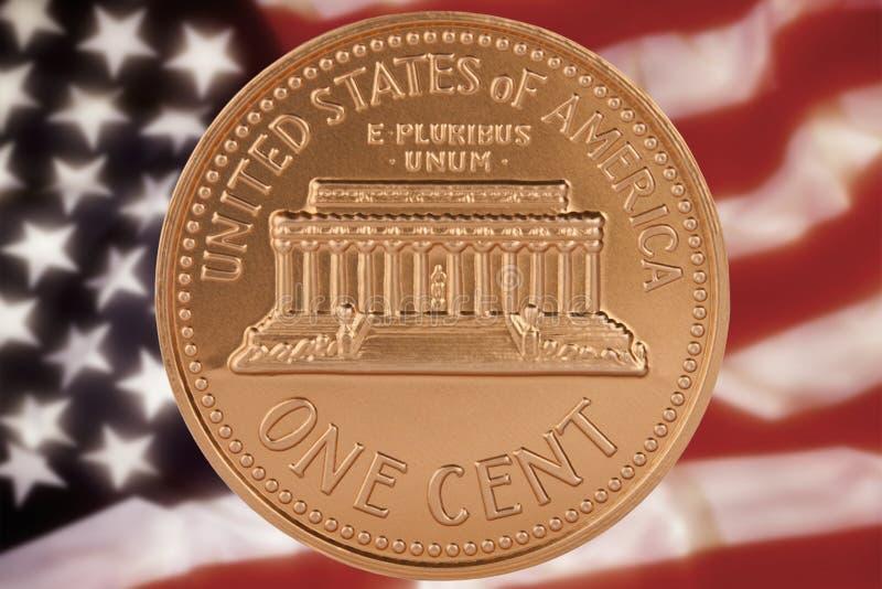νόμισμα ένα σεντ εμείς στοκ εικόνες με δικαίωμα ελεύθερης χρήσης
