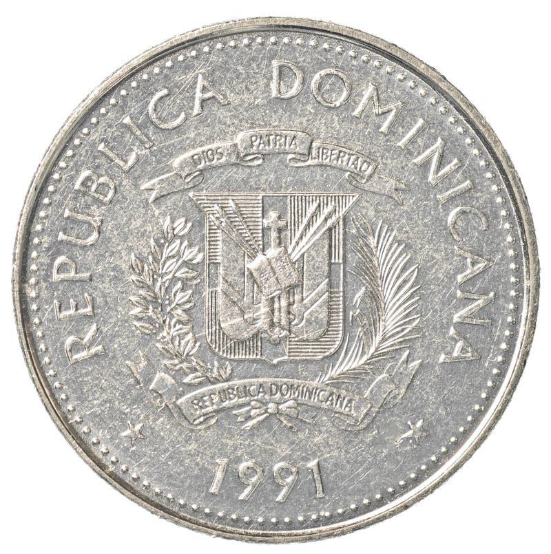 νόμισμα 25 Δομινικανής Δημοκρατίας centavos πέσων στοκ εικόνες