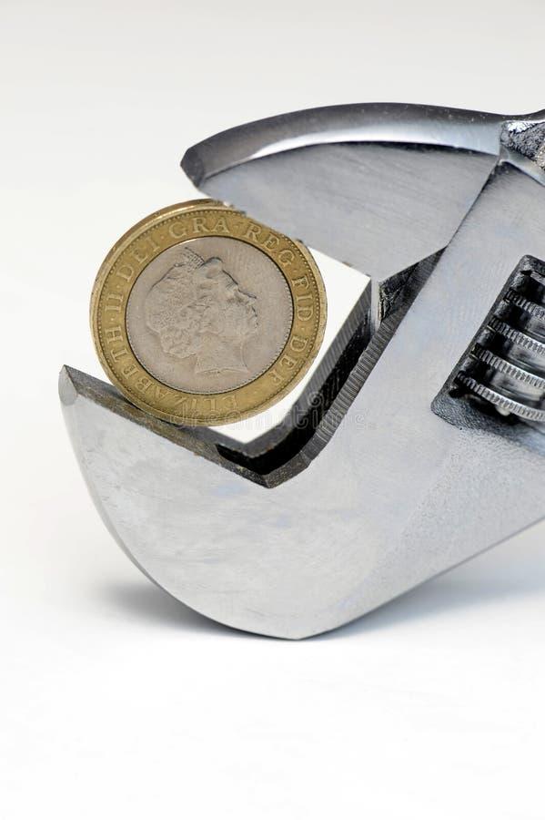 Νόμισμα δύο λιβρών στο γαλλικό κλειδί στοκ φωτογραφία