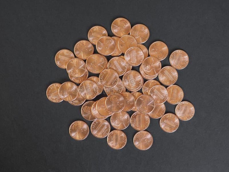 Νόμισμα ενός δολαρίου σεντ, Ηνωμένες Πολιτείες με το διάστημα αντιγράφων στοκ φωτογραφία με δικαίωμα ελεύθερης χρήσης