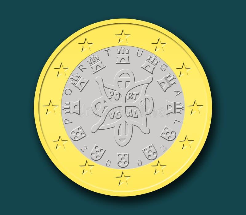 νόμισμα ευρο- πορτογαλι&k ελεύθερη απεικόνιση δικαιώματος