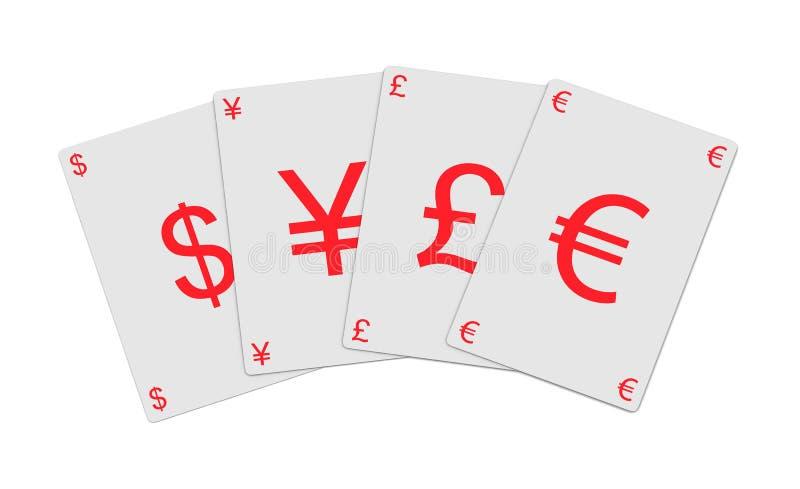νόμισμα καρτών διανυσματική απεικόνιση