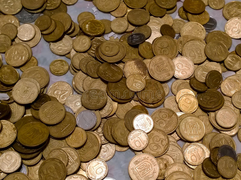 Νόμισμα μικρής αλλαγής της Ουκρανίας στοκ εικόνα με δικαίωμα ελεύθερης χρήσης