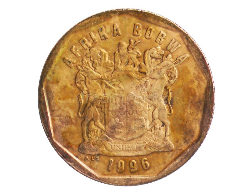 Νόμισμα μύθου 50 σεντ AFRIKA BORWA Sotho, 1994~Today - δεύτερη Δημοκρατία - κυκλοφορία serie, τράπεζα της Νότιας Αφρικής στοκ εικόνες με δικαίωμα ελεύθερης χρήσης