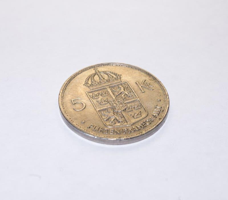 Νόμισμα πέντε γριών στοκ εικόνα