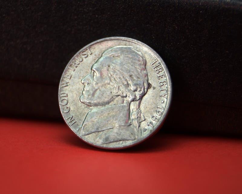 Νόμισμα πέντε σεντ στοκ εικόνες