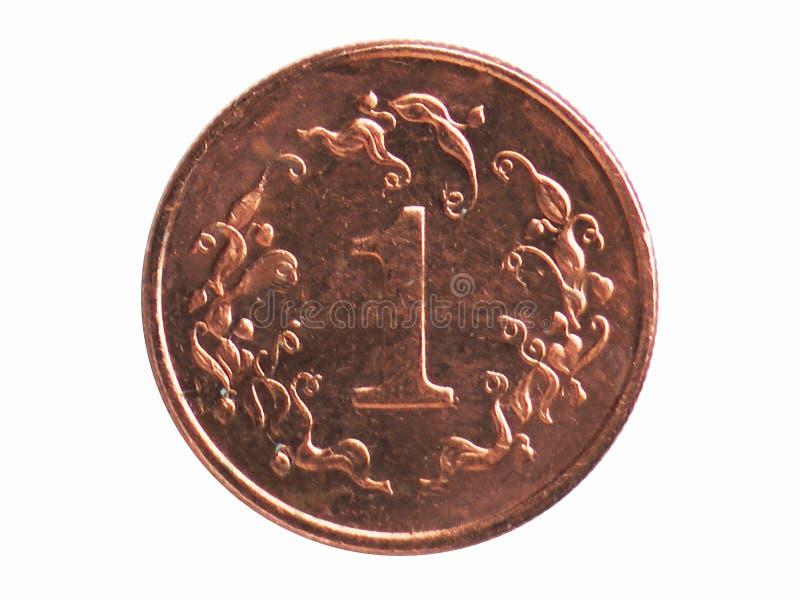 Νόμισμα 1 σεντ, 1980~1999 - 1$η σειρά κυκλοφορίας, τράπεζα της Ζιμπάμπουε στοκ φωτογραφία με δικαίωμα ελεύθερης χρήσης