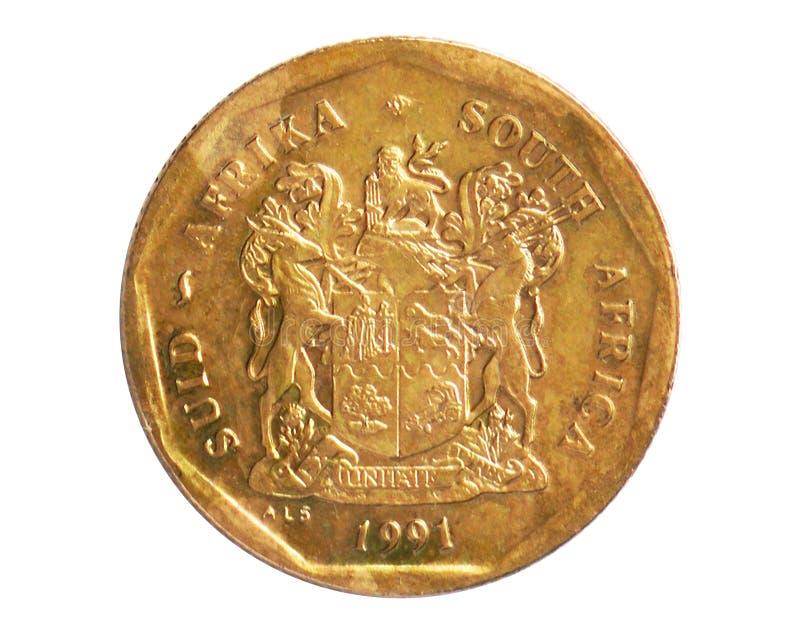 Νόμισμα 50 σεντ, 1961~1994 - πρώτη Δημοκρατία - κυκλοφορία serie, τράπεζα της Νότιας Αφρικής στοκ φωτογραφία
