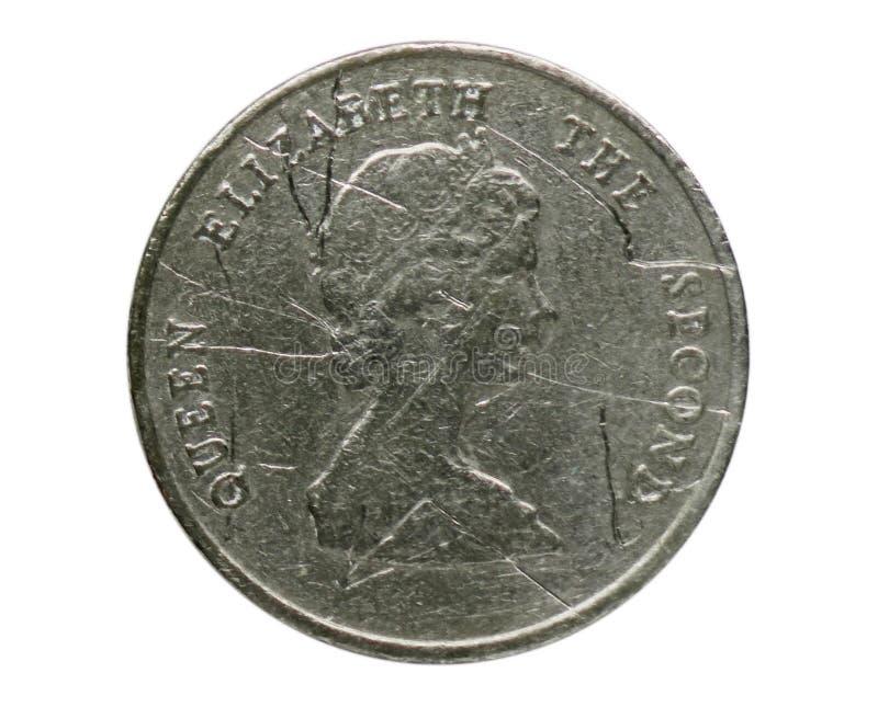 Νόμισμα 25 σεντ, τράπεζα των ανατολικών καραϊβικών κρατών αντιστροφή στοκ εικόνες με δικαίωμα ελεύθερης χρήσης