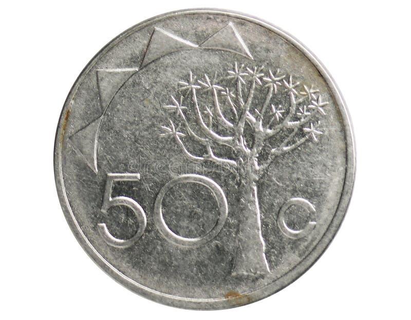 Νόμισμα 50 σεντ, 1993~Today - κυκλοφορία serie, τράπεζα της Ναμίμπια στοκ εικόνες με δικαίωμα ελεύθερης χρήσης