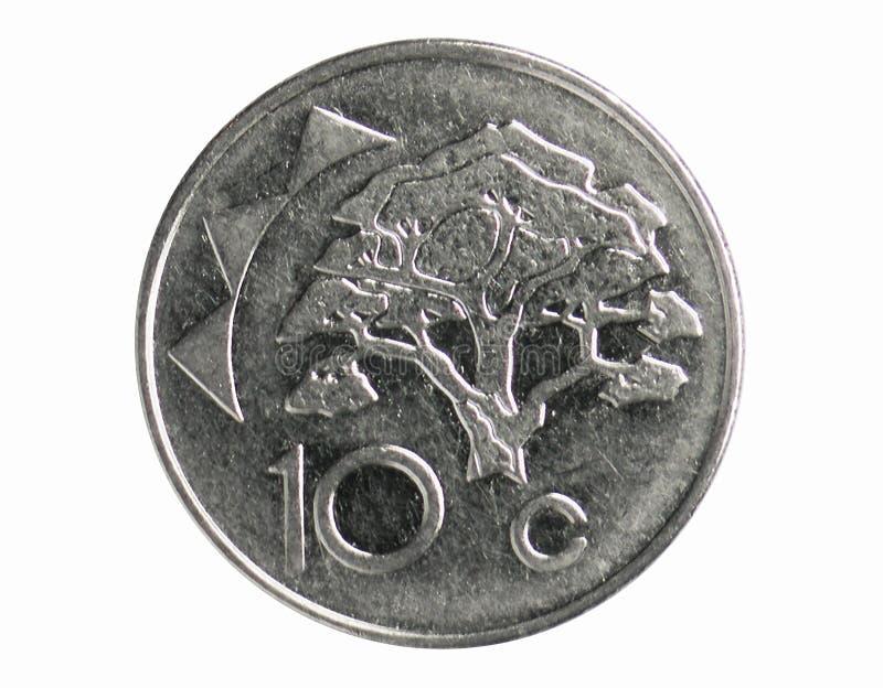Νόμισμα 10 σεντ, 1993~Today - κυκλοφορία serie, τράπεζα της Ναμίμπια στοκ φωτογραφίες