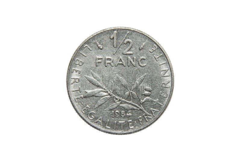 Νόμισμα της Γαλλίας ο 1/2 Frank στοκ εικόνα με δικαίωμα ελεύθερης χρήσης