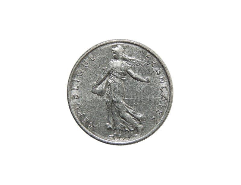 Νόμισμα της Γαλλίας ο 1/2 Frank στοκ φωτογραφία με δικαίωμα ελεύθερης χρήσης