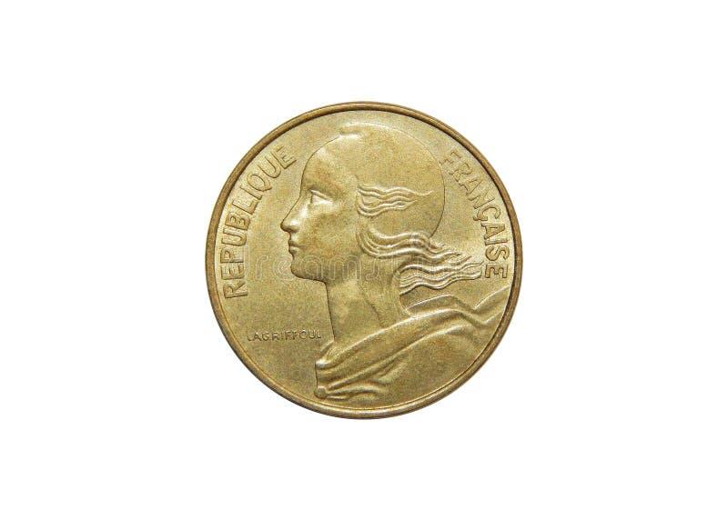 Νόμισμα της Γαλλίας 10 σαντίμ στοκ εικόνα με δικαίωμα ελεύθερης χρήσης