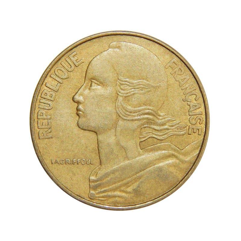 Νόμισμα της Γαλλίας 20 σαντίμ στοκ φωτογραφίες με δικαίωμα ελεύθερης χρήσης