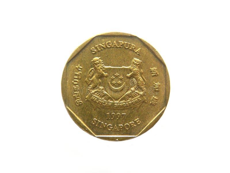 Νόμισμα της Σιγκαπούρης ενός δολαρίου στοκ εικόνα