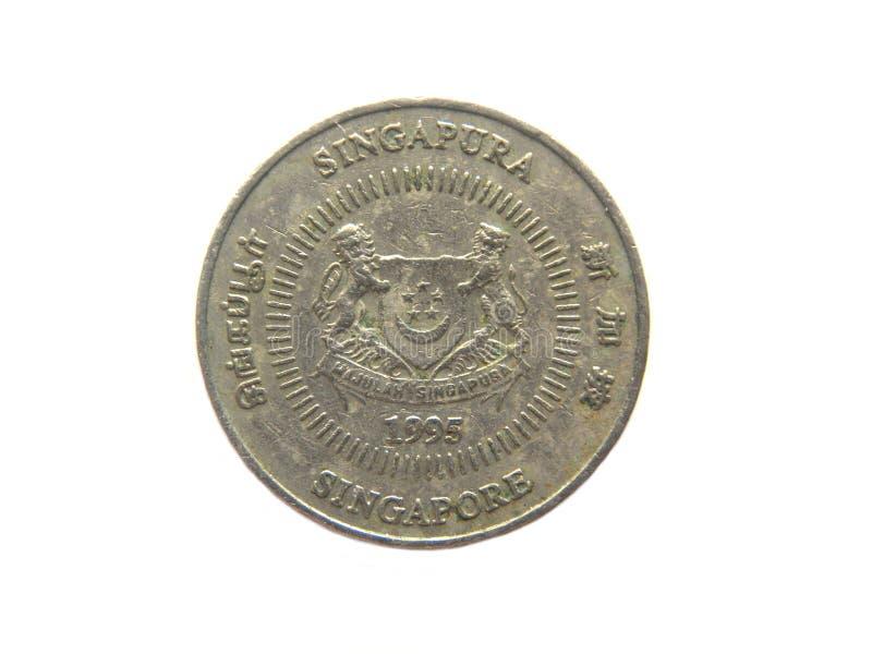 Νόμισμα της Σιγκαπούρης πενήντα σεντ στοκ εικόνες
