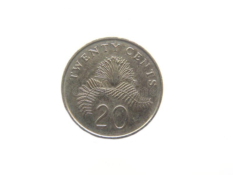 νόμισμα της Σιγκαπούρης 20 σεντ στοκ εικόνες
