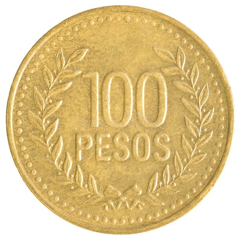 νόμισμα 100 της Χιλής πέσων στοκ εικόνες με δικαίωμα ελεύθερης χρήσης