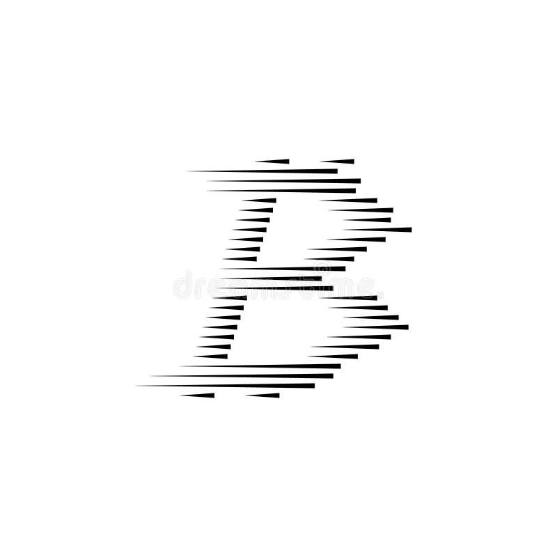 Νόμισμα Bitcoin με τις γρήγορες γραμμές κινήσεων ταχύτητας ελεύθερη απεικόνιση δικαιώματος