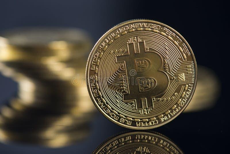 Νόμισμα Bitcoin στοκ φωτογραφία με δικαίωμα ελεύθερης χρήσης