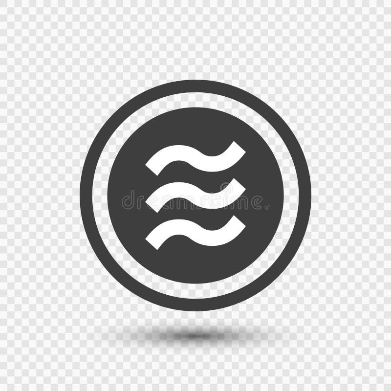 Νόμισμα Libra χρηματοδότηση λογότυπων στο διαφανές υπόβαθρο διανυσματικός εικονογράφος διανυσματική απεικόνιση