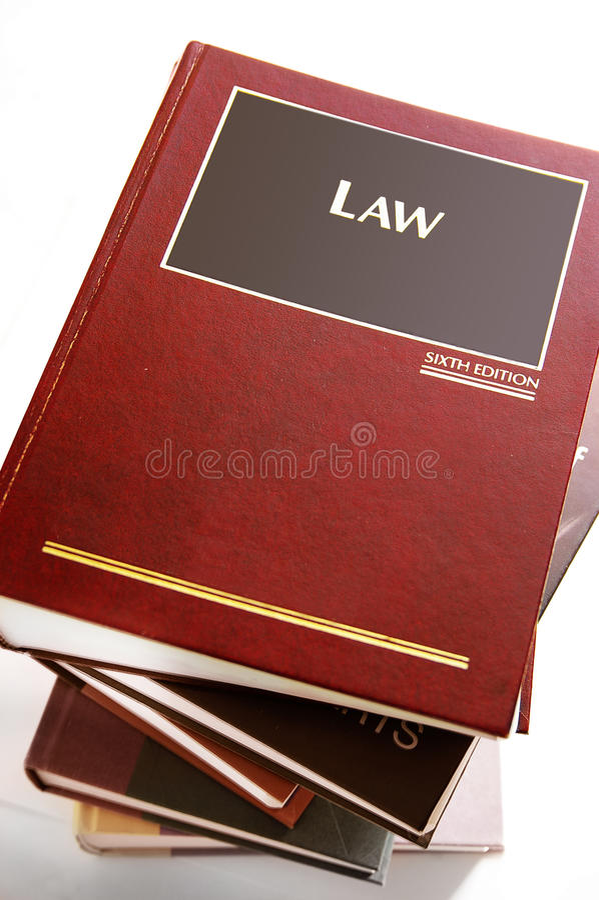 νόμος βιβλίων στοκ εικόνες