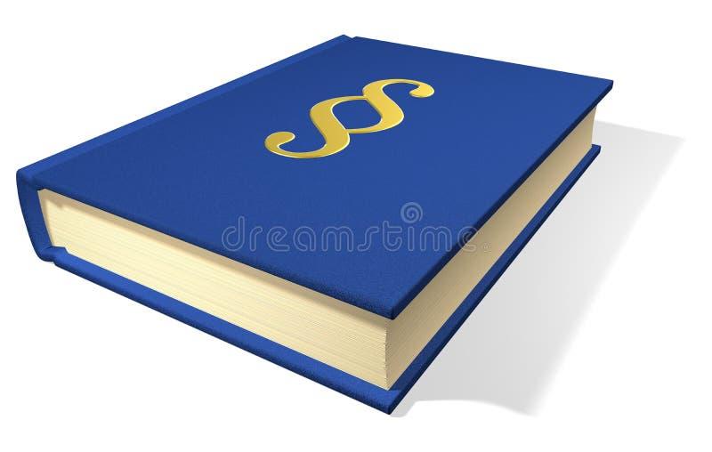 νόμος βιβλίων διανυσματική απεικόνιση
