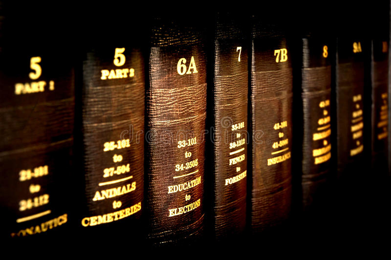 νόμος εκπαίδευσης βιβλίων στοκ φωτογραφία με δικαίωμα ελεύθερης χρήσης