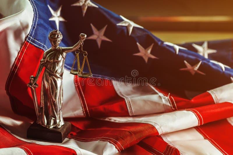 Νόμος και δικαιοσύνη στις Ηνωμένες Πολιτείες της Αμερικής στοκ εικόνες