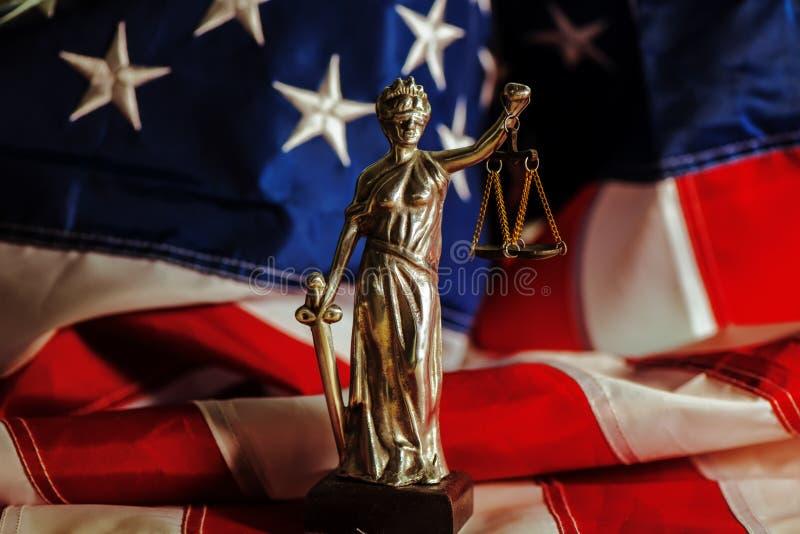 Νόμος και δικαιοσύνη στις Ηνωμένες Πολιτείες της Αμερικής στοκ εικόνα