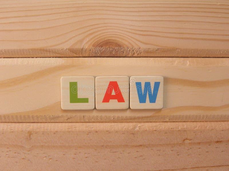 Νόμος του Word για το ξύλο στοκ φωτογραφία