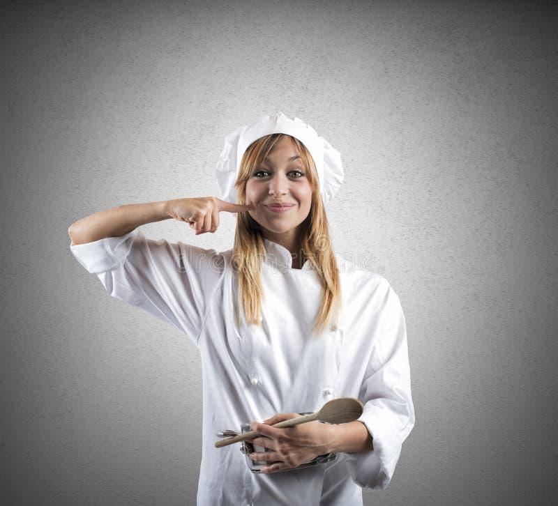 Νόστιμη συνταγή ενός αρχιμάγειρα στοκ εικόνα