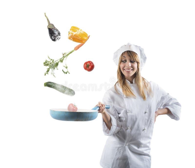Νόστιμη συνταγή ενός αρχιμάγειρα στοκ εικόνες