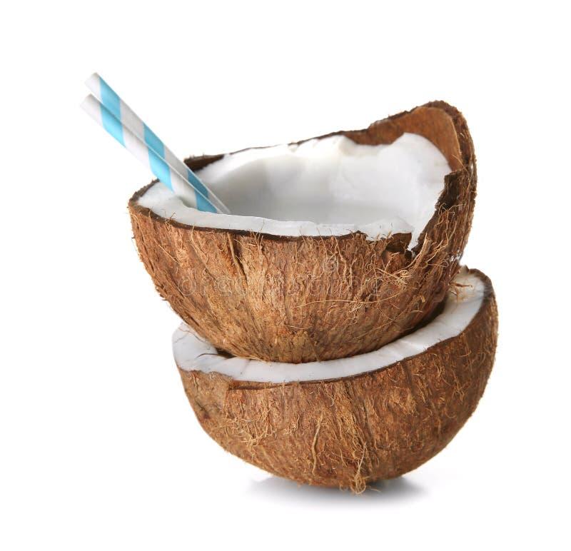Νόστιμο κούνημα γάλακτος στην καρύδα στοκ φωτογραφία με δικαίωμα ελεύθερης χρήσης