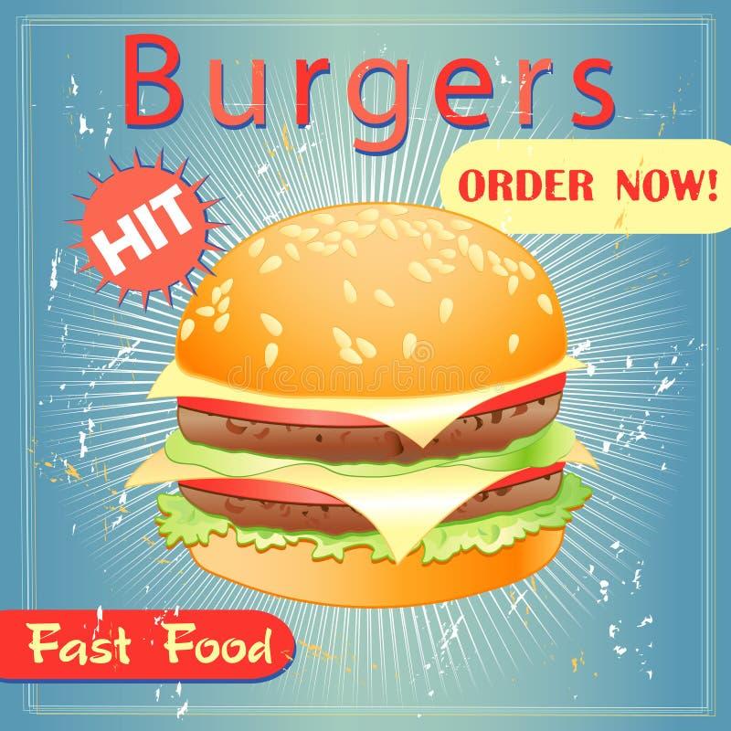 Νόστιμο burger διανυσματική απεικόνιση